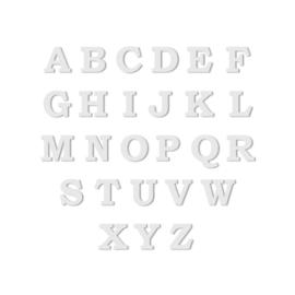 Oorbellen met Letter Hanger in Zilver