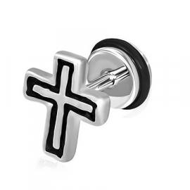 Kruis imitatie piercing oorbel