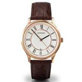 Klassiek Sekonda Heren Horloge met Bruine Horlogeband