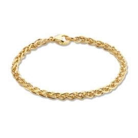 Excellent Jewelry Stevige Geelgouden Schakelarmband