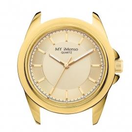 Goudkleurige Horloge Kast met Goudkleurige Wijzerplaat