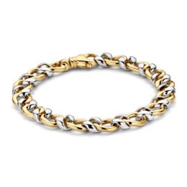 Excellent Jewelry Robuuste Gedraaide Bicolor Schakelarmband