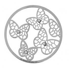 Zilveren Vlinder munt MY iMenso 33-1132