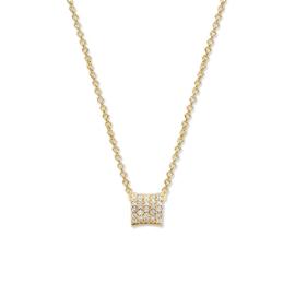 Excellent Jewelry Gouden Collier met Hanger met Meerdere Diamanten
