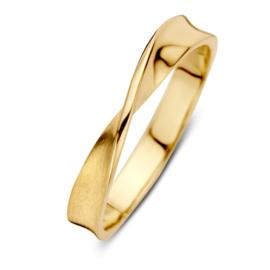 Excellent Jewelry Geelgouden Gedraaide Ring
