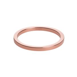 Vlakke Slanke Roségoudkleurige Ring van M&M