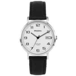 Prisma Heren Horloge P.1740 Zwart Lederen Band