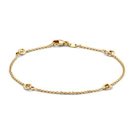 Excellent Jewelry Geelgouden Armband met Verbonden Cirkels
