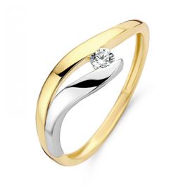Excellent Jewelry Fantasievolle Bicolor Dames Ring met Zirkonia