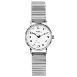 Edelstalen Prisma Dames Horloge met Rekband