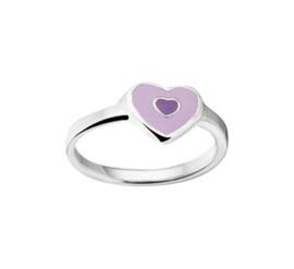 Ring van Zilver voor Kinderen met Paarse Emaille