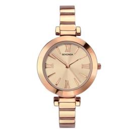 Sekonda Roségoudkleurig Dames Horloge met Slanke Schakelband
