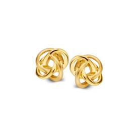 Excellent Jewelry Geelgouden Gehusselde Oorstekers voor Dames