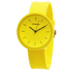 Prisma Geel Unisex Horloge met Gele Band