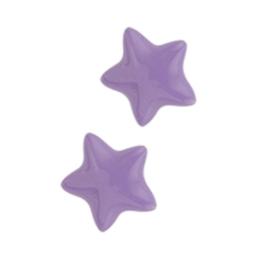 Paarse Emaille Ster Oorknoppen van Gepolijst Zilver
