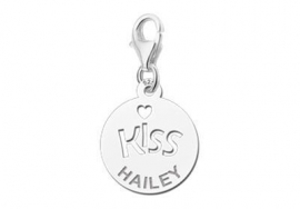 Names4ever Zilveren Kiss Bedel met Naam