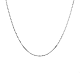 Elegant Zilveren Venetiaans Collier met Rhodium 45cm