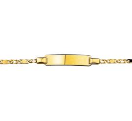 Graveer Baby- Kinderarmband 14 Karaats Goud | 13 – 15 cm