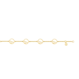 Goudkleurige Cirkels Armband van Tommy Hilfiger TJ2780326