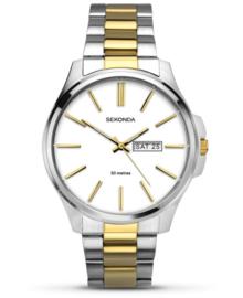 Sekonda Heren Horloge met Witte Wijzerplaat