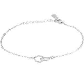 Zilveren Armband met Zeshoeken 1,3 mm 16+3 cm
