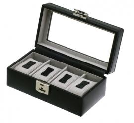Horlogebox voor 4 horloges / Zwart