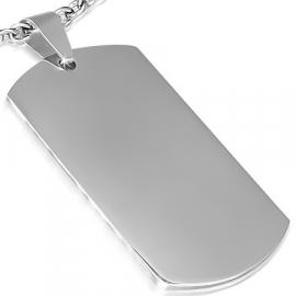 Naamplaat hanger 25 x 45 mm