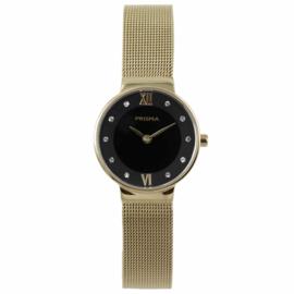 Goudkleurig Dames Horloge van Edelstaal met Milanese Band