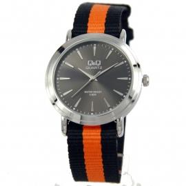 Q&Q Horloge met canvas horlogeband