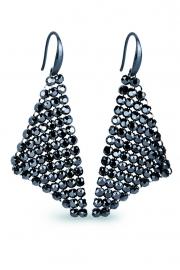 Chic Zwarte Swarovski Oorhangers van Spark Jewelry