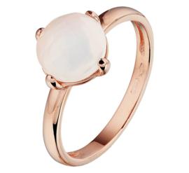 Roségouden Ring met Witte Maansteen