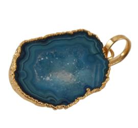 Hanger met Luchtblauwe Geode Druzy Edelsteen van Sujasa