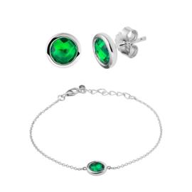 Synthetische Smaragd Sieraden Gift Set
