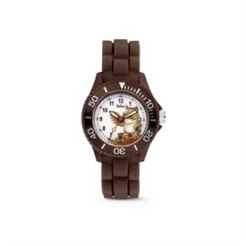 Bruin KIDZ Horloge met Uil van Colori Junior
