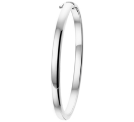 Slanke Zilveren Bangle armband met Bolle Buis
