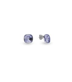 Oorbellen van Spark Jewelry met Provence Lavender Swarovski Kristal