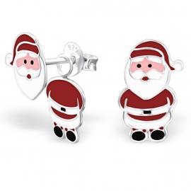 Kerstman Ear Jackets Oorbellen van Zilver