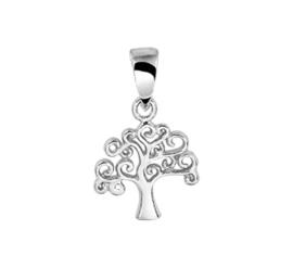 Stijlvolle Levensboom Hanger van Zilver
