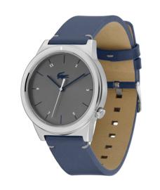 Lacoste Zilverkleurig Heren Horloge met Blauwe Horlogeband