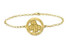 Gouden Armband met Opengewerkte Basic Levensboom Naamhanger > Names4ever