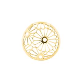 Goudkleurige Cover Munt met Opengewerkte Bloemen 24-1398