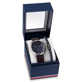 Tommy Hilfiger Horloge en Armband Gift Set voor Heren TH2770106