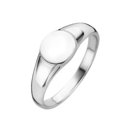 Zilveren Ronde Graveer Ring | Ring met Initialen