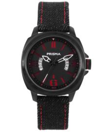 Racer Jongens Horloge van Edelstaal met Zwarte Horlogeband