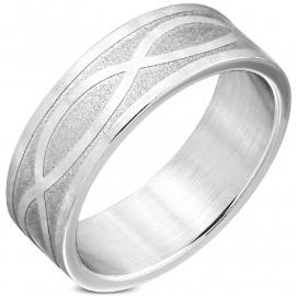 Stalen Infinity Ring (Graveren mogelijk)