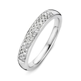 Excellent Jewelry Bolstaande Witgouden Ring met 0,23crt. aan Briljanten
