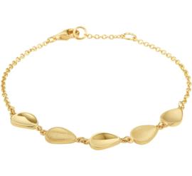 Gouden Armband met Driehoekige Geronde Plaatjes