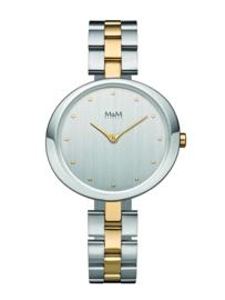 Zilverkleurig Dames Horloge met Edelstalen Schakelband van M&M