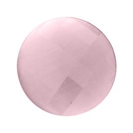 Pastel Roze Facetgeslepen Cat's Eye Munt van MY iMenso