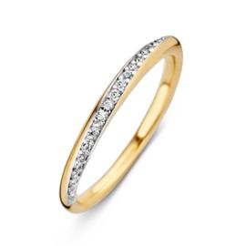 Excellent Jewelry Geelgouden Ring met Zirkonia Rij